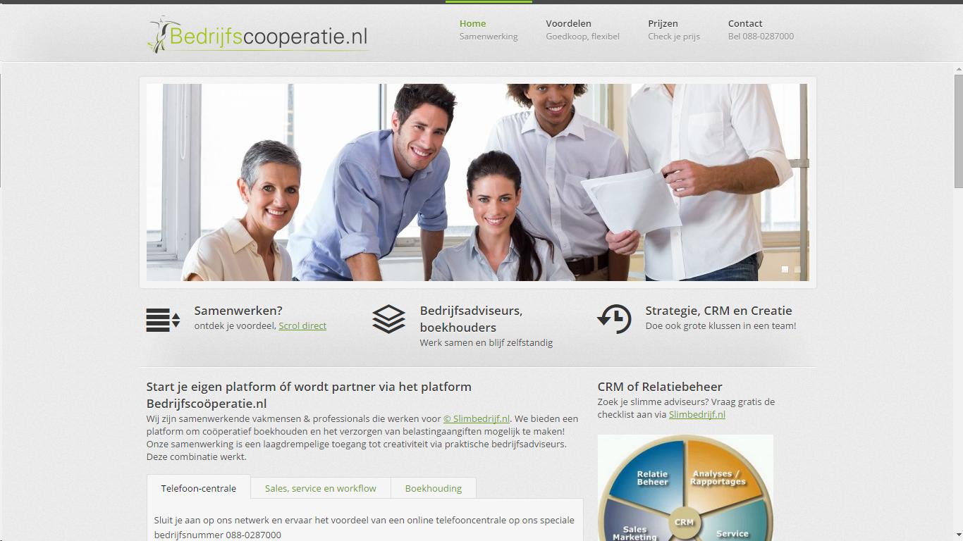 nieuw opgericht Bedrijfscooperatie.nl